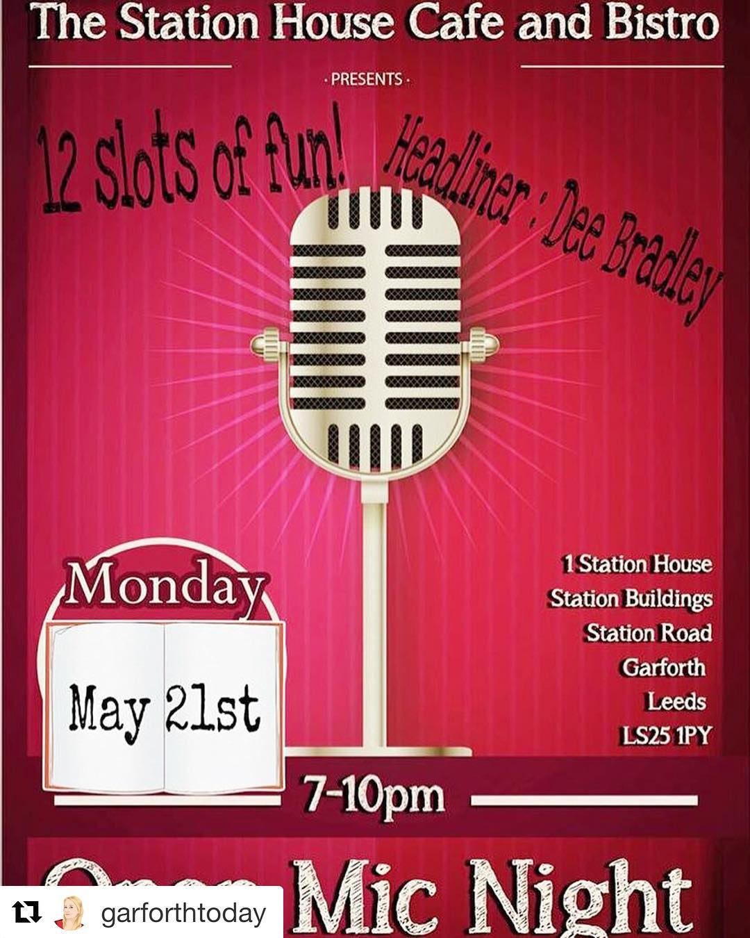 🎤🎼Open mic night at @thestationhousec on Monday 21! 🎙🎺 Food 🍕 will be served between 6pm -7 pm 👨🏻‍🍳 🎶 The event will start at 7 pm and finish at 10.00pm! 🎵  We look foward to seeing you all! ❤️🎙🎤🍕 . . . . . . . . . #garforth #leeds #manchester #openmicnight #🎤 #sing #singing #happy #happydays #happynights #italianrestaurant #ristoranteitaliano #healthyfood #lovefood #foodlover #singlover